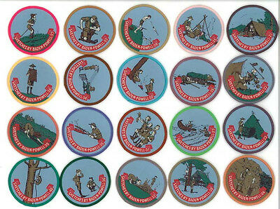 """WORLD SCOUT FOUNDER LORD BADEN POWELL - """"SCOUTING FOR BOYS"""" Sketches Patch 21-40"""