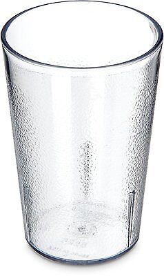 Carlisle 5526-8107 Stackable Shatter-Resistant Plastic Tumbler, 8 oz., Clear of