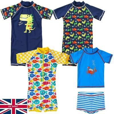 H2O Boys Babies Sunsafe UPF40+ Dinosaur Print 3D Spikes One Piece Swim Suit