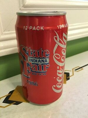 Coca-Cola Can Vintage Coke Can Stay Tab Indiana State Fair 1986