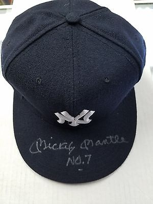 Mickey Mantle #7 Autographed New York Yankees New Era Hat Beckett Coa A01309