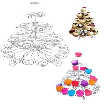 5 Tier 41 Metal Cupcake Stand Spiral Birthday Wedding Parties Events Baby Shows