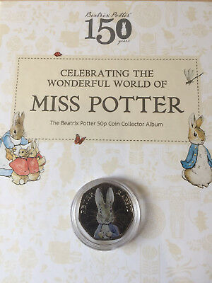 Beatrix Potter - Peter Rabbit 50p Coin Coloured Decal Uncirculated