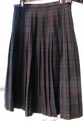 Scottish wool KILT waist 32 length 28 Tartan Black Watch new with tags