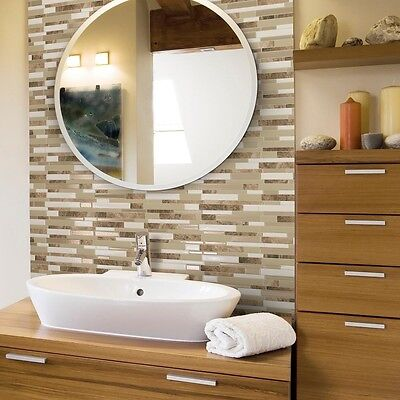 Milano Sasso L And Stick Decorative Wall Tile Mosaic Beige 12 Pk Smart