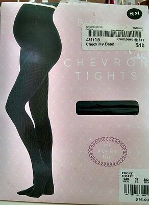 Be Maternity Ingrid & Isabel Chevron Ebony Tights Small Medium New Pkg Damage