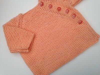Cardigan for Baby Aged 3-6months, Hand Made In Pure Cotton