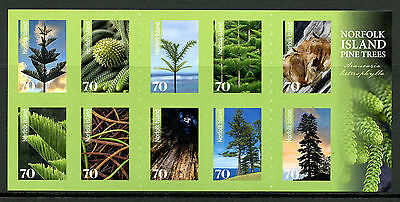 Norfolk Island 2014 MNH Pine Trees 10v S/A Booklet Nature Flora Stamps