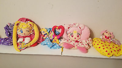 Sailor Moon Sailormoon SUPER S PILLOW POUCH PLUSH SET BANPRESTO JAPAN