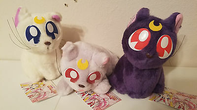 Sailor Moon Sailormoon SUPER S LUNA ARTEMIS DIANA PLUSH SET BANPRESTO JAPAN