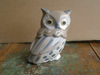 """Small Vintage Nao by Lladro Retired Porcelain Owl - 2 1/2"""""""