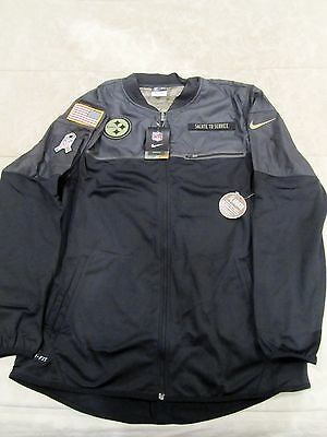 03cf30504 2016 Pittsburgh Steelers Salute to Service Mens Jacket NFL Nike Large  Dri-fit