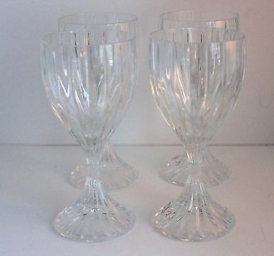 Mikasa Park Lane  lead crystal wine glasses s/4