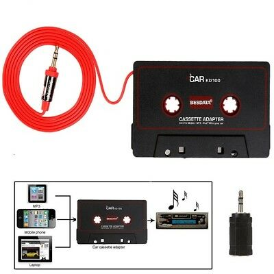 3.5MM Audio AUX Car Music Cassette Tape Adapter Converter for iPhone MP3 Android