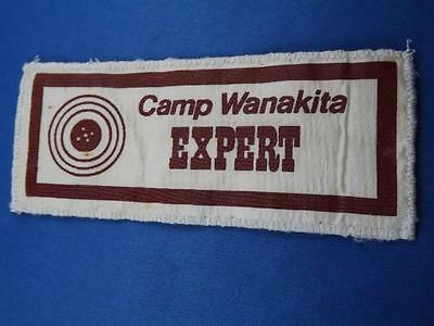 Camp Wanakita  Expert Marksman Vintage Award Koshlong Lake Ymca Camp Patch Badge
