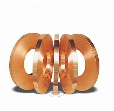Select 0.03mm - 0.6mm Thick Copper Sheet Strip Foil Blank Plate Block 18-200mm