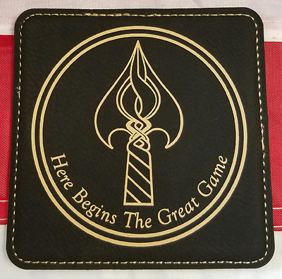 """CIA NCS DO /""""Here Begins The Great Game/"""" Black Leather Portfolio"""