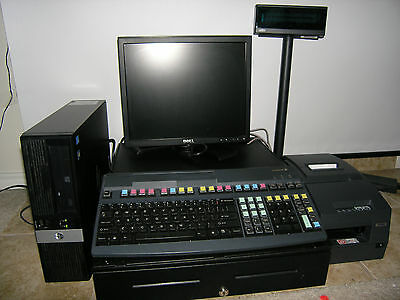 Hp rp8500 Retail Point of Sale  System, scanner, monitor printer, Cash Register,
