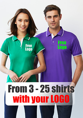 From 3 - 25 shirts Ladies Miami Polo with Your Embroidered LOGO (Biz P402LS)