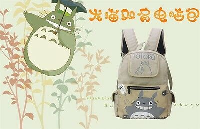 1PC Anime My Neighbor Totoro Cospaly Canvas Backpack School Bag Travel Bag