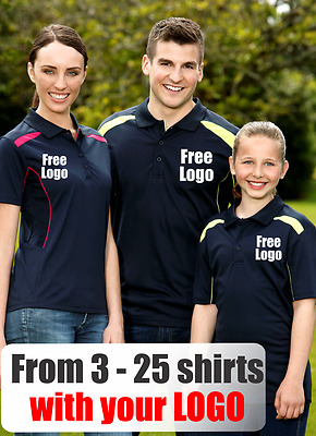 From 3 - 25 shirts Ladies United Polo with Your Embroidered LOGO (Biz P244LS)