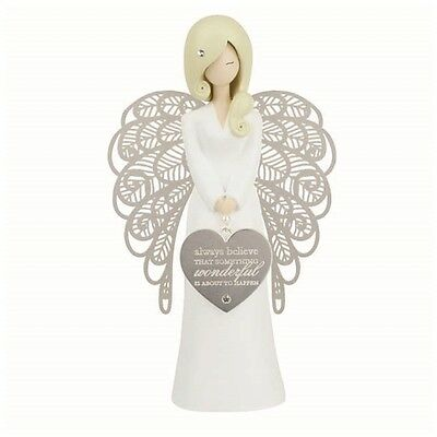 **NEW** YOU ARE AN ANGEL 155mm ALWAYS BELIEVE ..FIGURINE Gift Boxed!