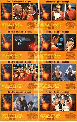 STAR TREK VI: THE UNDISCOVERED COUNTRY (1991) U.S. Lobby Cards Complete Set of 8