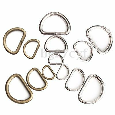 15/25/38 mm 10-100Pcs D rings buckles multi for webbing Hand Bag Colours Choice