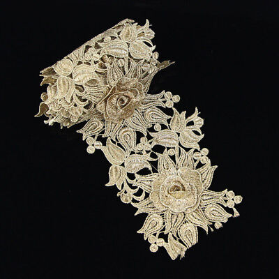 1 yd DIY Vintage Embroidered Lace Edge Trim Ribbon Applique Crochet Sewing Craft