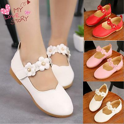 Fashion Baby Girl's Kids Princess Toddler Flat Kids School Casual  Leather Shoes