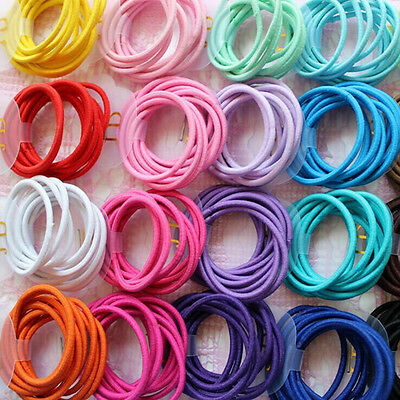 50Pcs Baby Kids Girl Elastic Hair Bands Ponytail Holder Bobbles Head Rope Ties