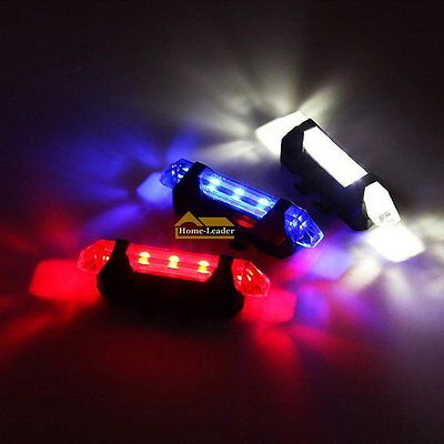 USB Rechargeable 4 Modes Bike Bicycle Cycling Front Rear Tail Light LED Lamp