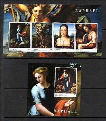 Tuvalu Mnh 2012 Paintings By Raphael