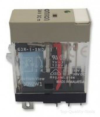G2R-1-Snd 24Dc - Omron Industrial Automation - Relay, Spdt, 10A, 24Vdc, Plug