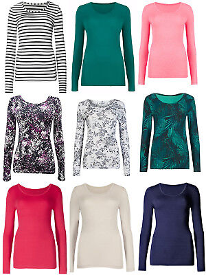 Ladies Ex Marks & Spencer  Collection Thermal Long Sleeve Top 6-22 Base Ex M&S