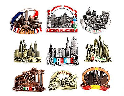 Fridge Magnet Paris Rome Venice Barcelona Amsterdam Prague NewYork Dubai London
