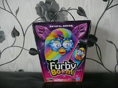 Boxed Official Hasbro Crystal Series Furby Boom Pink Purple Blue Rainbow Pet Toy
