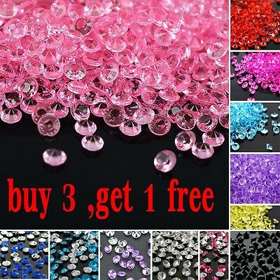 1000x Party Table Crystals Scatter Decor Diamond Acrylic Confetti Wedding Favors