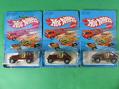 3x Hot Wheels 3259 Jeep Cy-7 Renegade - 1980er Jahre -   Ladenfund - NOS
