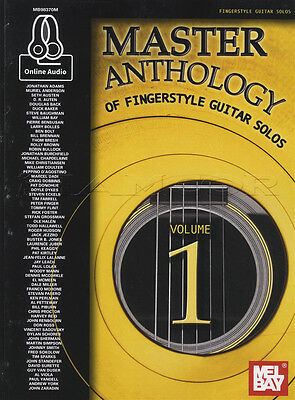 Master Anthology of Fingerstyle Guitar Solos Volume 1 TAB Music Book with Audio