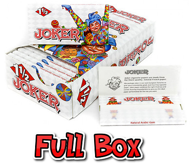 Full Box 24x Packs ( Joker 1.5 1 1/2 ) Cigarette Rolling Paper Papers RYO