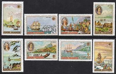 COOK ISLANDS MNH 1968 SG269-76 Captain Cooks First Voyage of Discovery Set