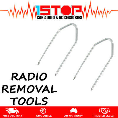 2 x RADIO REMOVAL TOOLS for HOLDEN ASTRA (TS series) 1998-2006 car stereo pins