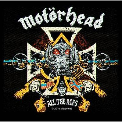 Motorhead All The Aces Sew On Patch Woven Music Official Band Rock Heavy Metal