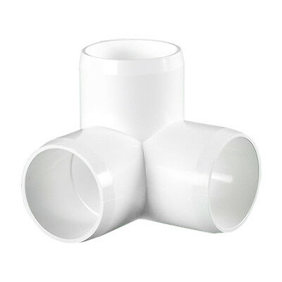 White Furniture Grade PVC Project Pipe and Fittings. (Elbow, Tee, Cap, Cross.)