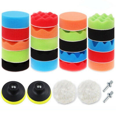 "7x New 3/5/6/7"" Polishing Waxing Buffing Pad Sponge Kit Set for Car Polisher"