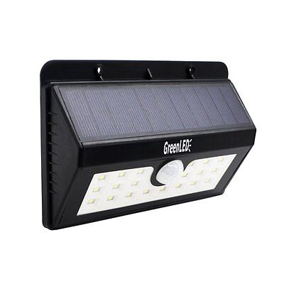 20 LED Solar Powered Weatherproof GreenLED Wireless Wall Motion Light for Patio