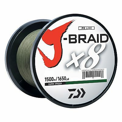 Daiwa J-BRAID Braided DARK GREEN Line 50lb 1650yd 1500 Meter 50-1500DG
