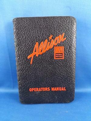 Allison Engine Installations Operators Manual General Motors 1942