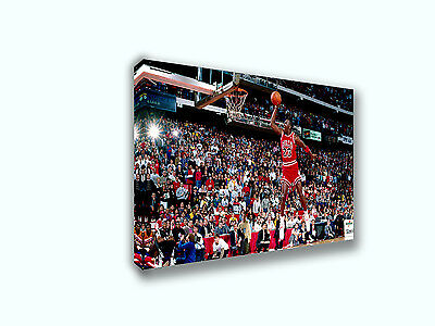 Michael Jordan Slam Dunk Contest 1988 Painting Canvas Print Art Home Decor Wall